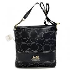 Coach Swingpack In Signature Medium Black Crossbody Bags AXC