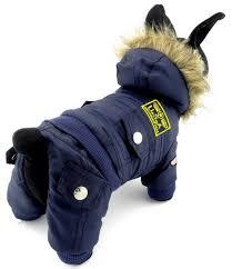 ranphy dog cat snow suit cold weather coats airman fleece winter coat jumpsuit waterproof snowsuit for