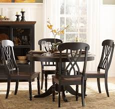 Pedestal Dining Table Set Homelegance Ohana Round Pedestal Dining Table In Black Cherry