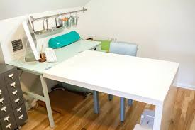 ikea office makeover. Ikea Sewing Table Hack Craft Desk Makeover Hackers Office