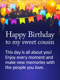 Cousin Birthday Quotes Interesting To My Sweet Cousin Happy Birthday Wishes Card Happy Birthday