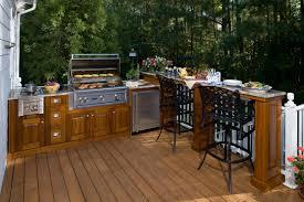 Complete Outdoor Kitchen Brilliant Exterior Cottage Home Inspiring Design Showcasing