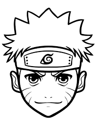 Small Picture Coloring Pages Anime Naruto For Kids Cartoon Coloring pages of