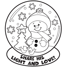 Small Picture Snow Globe Winter Coloring Pages Winter Coloring pages of