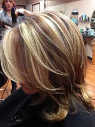 Dark Hair Chunky Blonde Highlights Red