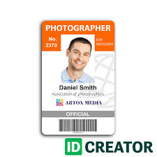 Make An Id Card Photographer Id Card Call 1 855 Make Ids With Questions