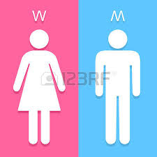 bathroom sign vector. men and women toilet sign great for any use. vector eps10. bathroom