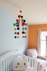 DIY Pom Pom Nursery Mobile