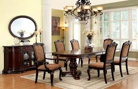 incredible furniture of america cm3319t bellagio formal dining room set with upholstered chairs for dining room prepare