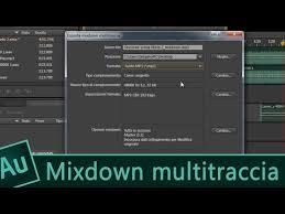 Formato Au 12 Videocorso Audition Cc Lezione 100 Esportare File Mixdown Multitraccia