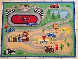 disney pixar cars lightning mcqueen rug play mat boys room blue green