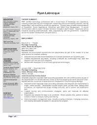 Sample Resume For Business Analyst Tomyumtumweb Com