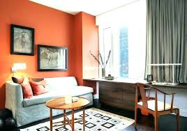 Orange home office Storage Orange Kindery Orange And Brown Living Room Walls Kindery