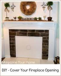 fireplace cover ideas