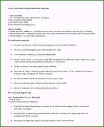Resume Template Executive Assistant 48 Rare Executive Administrative Assistant Resume Sample For
