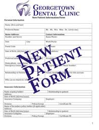 patient information form new patients georgetown dental clinic