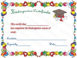 Preschool Diploma Certificates Hats Off Kindergarten Diploma