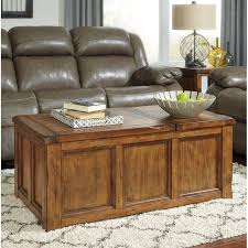 ashley tamonie rectangular lift top coffee table in medium brown t830 9