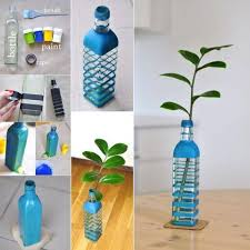 diy crafts with wine bottle decorative plant starter for garden