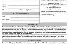 Construction Quote Form Download Sample Template Format Formal Free
