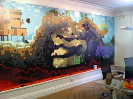 Great More Giant Mural Walls, This One From Mojang (guys Who Make Minecraft)