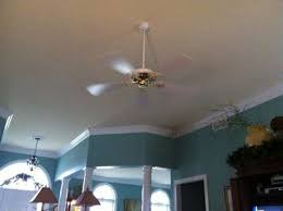 should your ceiling fan match your ceiling color or your hardwood floor color