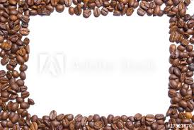 coffee beans border. Simple Beans Coffee Beans Forming A Border White Background And Beans Border E