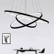 three rings office. Wonderful Office Dimmable 90W Pendant Light With Remote Control Modern Design LED Three  Rings 220V To Rings Office