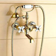 tub faucet sprayer attachment bathtub sprayer gold claw foot wall mount tub faucet with handheld sprayer