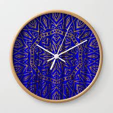 384 royal blue gold mandala curtain