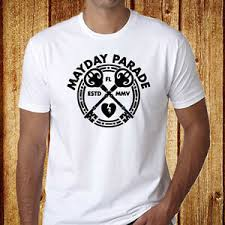 Pop Fit Size Chart Details About New Mayday Parade Pop Rock Band Logo Mens White T Shirt Size S 3xl