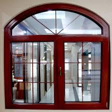 round arch top part aluminum frame casement swing glass door window design china