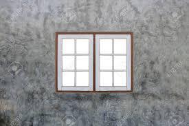 Concrete Window Design Vintage Wooden Window On Modern Concrete Wall For Design Background