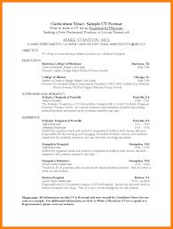 8 Medical Cv Templates Letter Setup