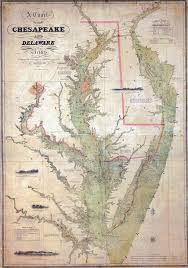 Chesapeake Bay Maps Charts Details About 1840 Nautical Chart Map Of The Chesapeake And