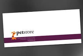 Envelope Template For Pet Store Design Order Custom