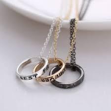 best friend forever friendship silver gold 3 piece break heart pendant necklace