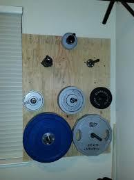 diy weight plate wall rack off 70