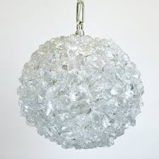 cl sterling son orb pendant light in rock crystal rc 46