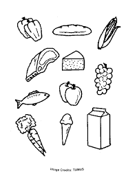 Small Picture Food Groups Free Coloring Pages for Kids Printable Colouring