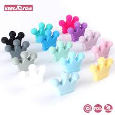 Keep&Grow 100Pcs 12MM <b>Silicone Letter Beads BPA Free</b> Baby ...