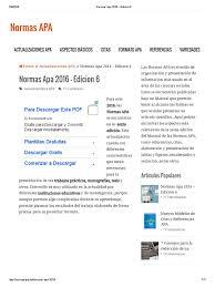 Normas Apa 2016 Edicion 6 Bibliografía Editorial