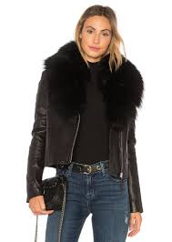 mackage yoana leather jacket with rac fur