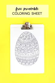 Free Printable Easter Egg Coloring Sheet