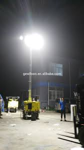 Truck Mounted Led Light Tower Hydraulic 9 2m Mast Mobile Light Tower For Sale Gewilson