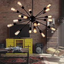 metal lighting. aliexpresscom buy american country vintage lamp lantern artificial satellite indoor lighting metal black dining room lights decor e27 20 bulbs from h