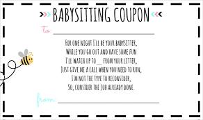 Free Babysitting Certificate Template Lissette
