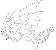 Small Picture Mega Gyarados Pokemon coloring page Free Printable Coloring Pages