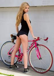 Sexy babes on bicycles