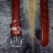 leather belt executive dress cow plain finished reddish brown